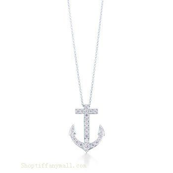 Tiffany Outlet Anchor Pendant With Zircons Anchor Pendant