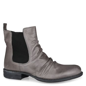 Shoe Connection - EOS - Willo grey leather ankle boot with gussets. $269.99 http://www.shoeconnection.co.nz/products/EOWAFA3L1EY