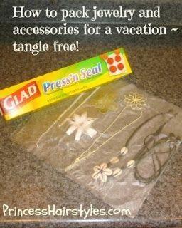Use Press'n Seal to keep jewelry tangle free.