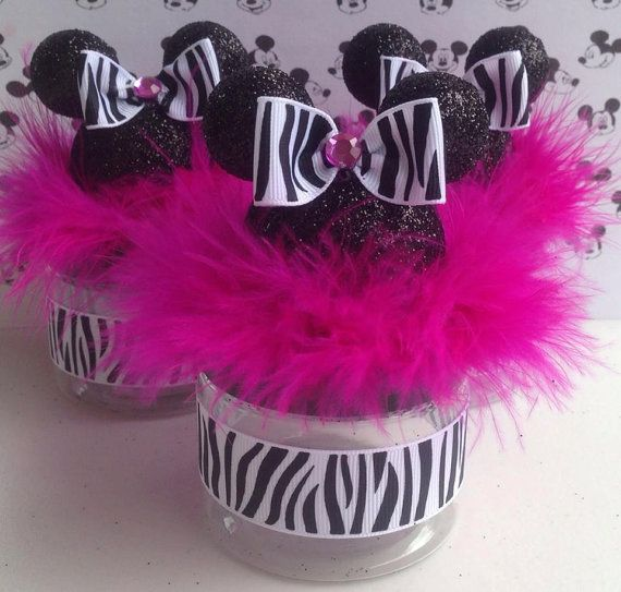 Minnie Mouse Baby Shower Party Favors: Minnie Mouse Or Mickey Mouse Baby Shower Favor, Zebra And