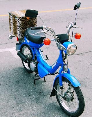 Beautiful Blue Suzuki Scooter