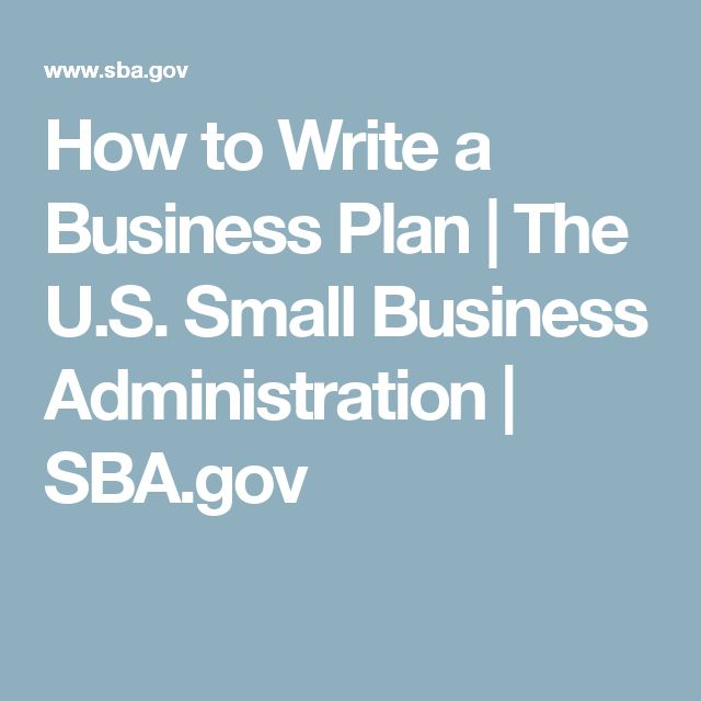 Writing a small business plan