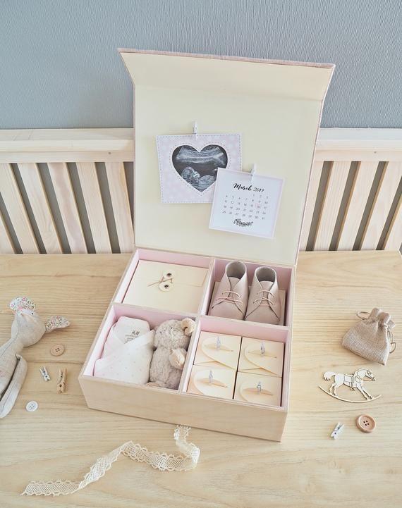 Personalised Newborn Gift Hamper Baby Keepsake Luxury Gift Set