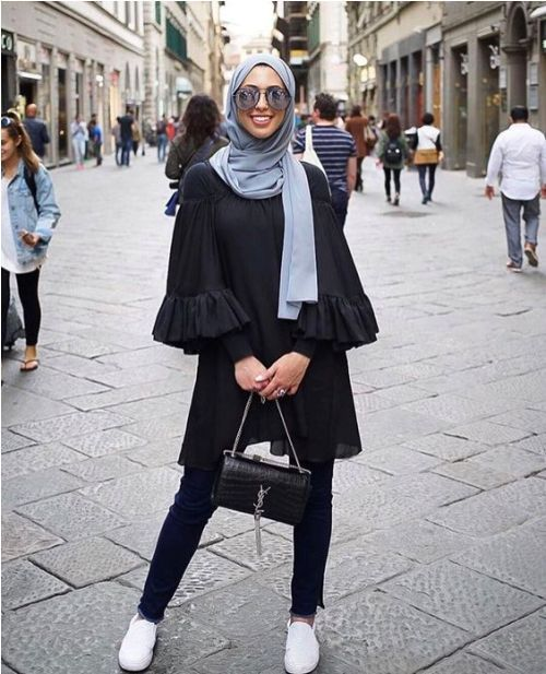 Ruffle blouse with hijab-How to wear cute hijab in Ramadan – Just Trendy Girls