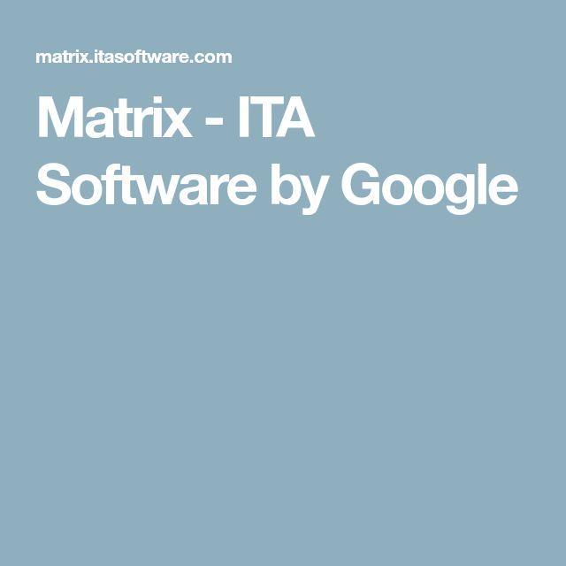 Matrix - ITA Software by Google