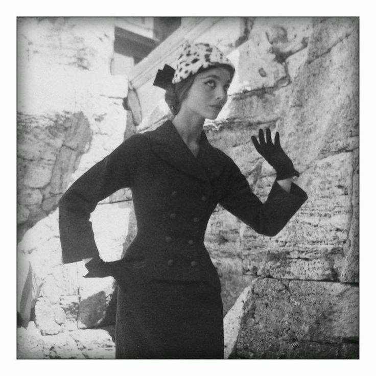 FERDINANDI Haute Couture via Veneto 108,Roma-1950/1960 Model: ELSA MARTINELLI