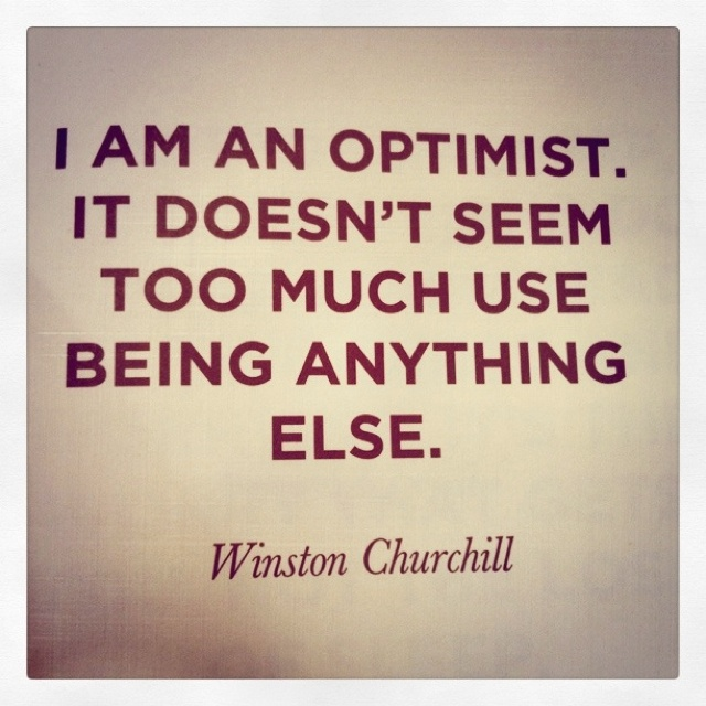 Optimism = classic and timeless.