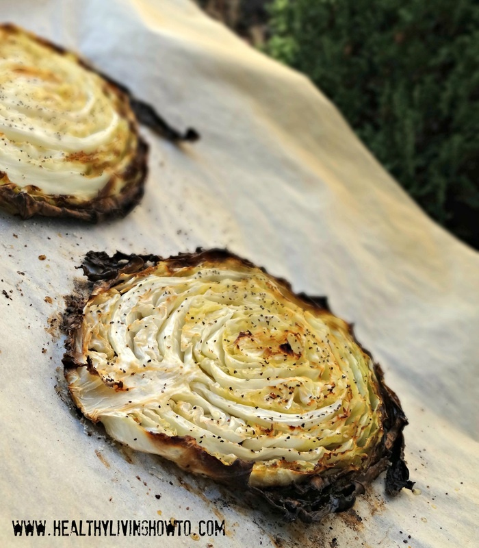Rustic Oven Roasted Cabbage