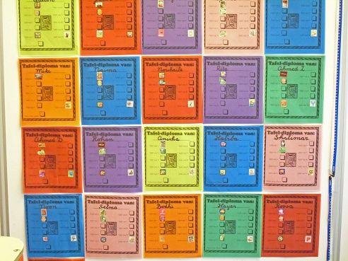 Tafeldiploma met stickers