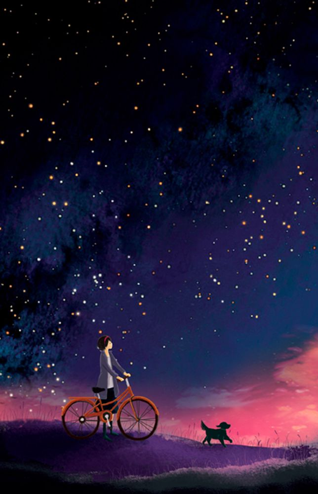 Anime Night Sky: I Often Think That The Night Is More Alive And More Richly