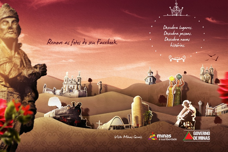 Minas é sua liberdade: campanha desenvolvida para a Secretaria de Turismo de Minas Gerais em 2011.