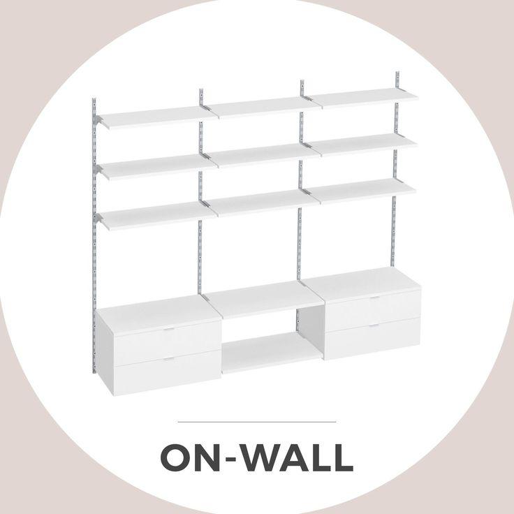 ON-WALL: Modulares Wandregalsystem für Büro, Laden und Wohnen