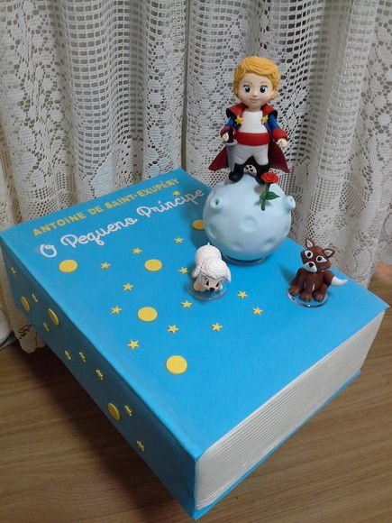 Bolo livro O Pequeno Príncipe