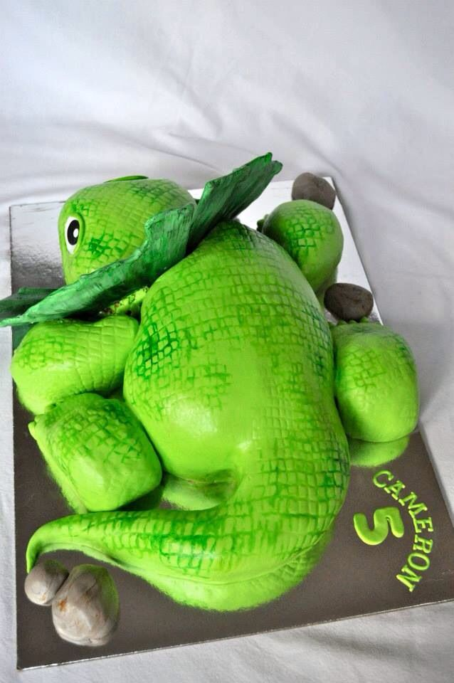 Frilled neck lizard boys birthday cake.