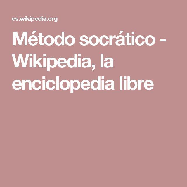 Método socrático - Wikipedia, la enciclopedia libre