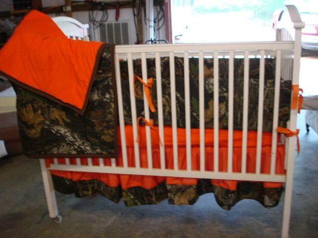 Camouflage  baby crib bedding set by HaleysCrafts on Etsy, $200.00