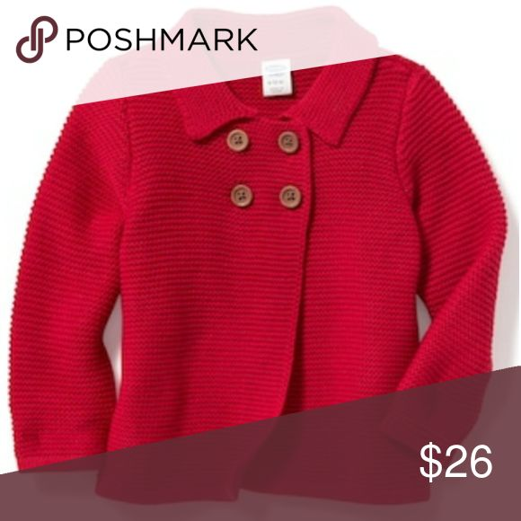 Baby boy/girl cardigan Brand new with tags red old nsvy cardigan. Perfect for layering in this cold weather and cute as well on any adorable baby! Sizes 0 to 12 months available. Please select size when ordering. Thanks for looking! Old Navy Jackets & Coats