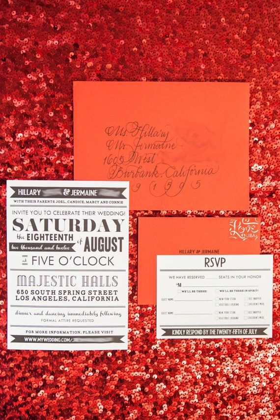 Billboard Style Wedding Invitation Suite typography