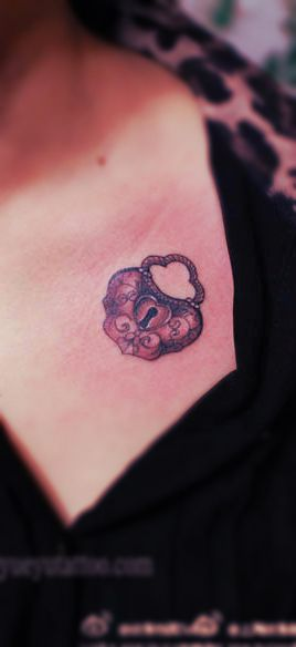 #lock #tattoo design on the chest