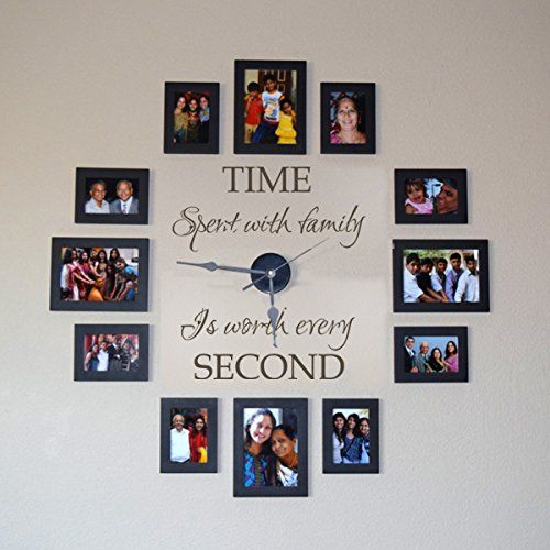 This Family Photo Clock Wall Decal will look fabulous in a favorite space at your place. It's a beautiful way to preserve all your precious family memories.