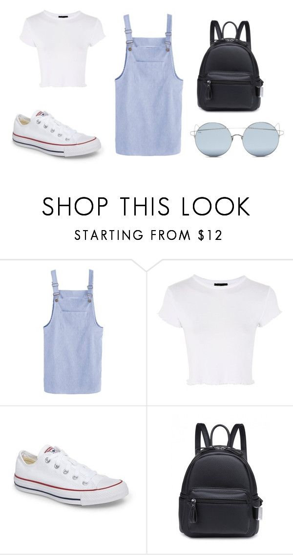 """""""Mall Outfit"""" by ronaldraegan-1 on Polyvore featuring Topshop, Converse and For Art's Sake"""
