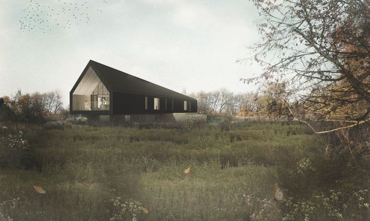 Studio Bark's Black Barn will be an off-grid masterpiece in the English countryside.