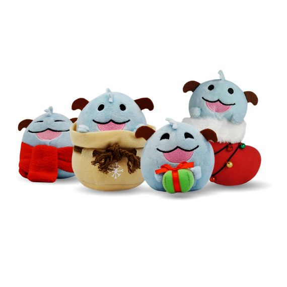 Riot Games Merch | Mini Holiday Poro 4-Pack - Plush - Collectibles