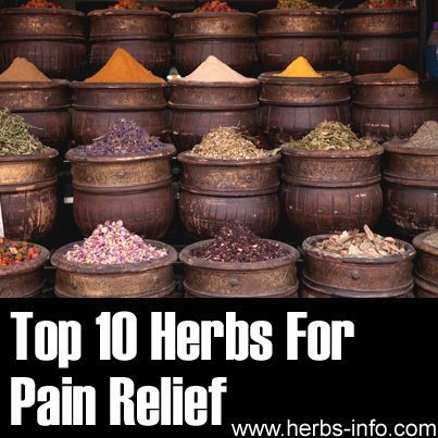 ❤ You will be relieved to know there are several herbs considered beneficial for natural pain relief ❤