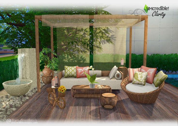 Lana CC Finds - Clarity Outdoor Set by SIMcredible!