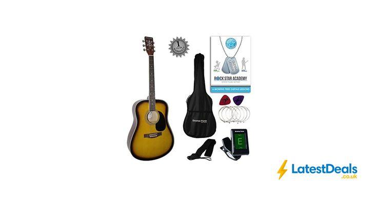 Stretton Payne Dreadnought Full Sized Steel String Guitar Bundle Sunburst, £79.99 at Amazon