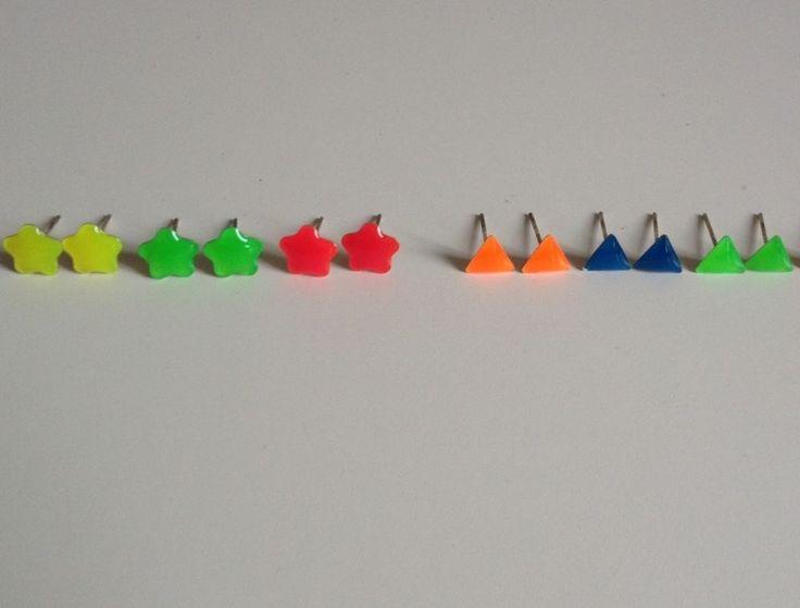 orecchini boucles d'oreilles fluorescentes perles ring collana collier bracelet casquette fluo revendeur lot joblot