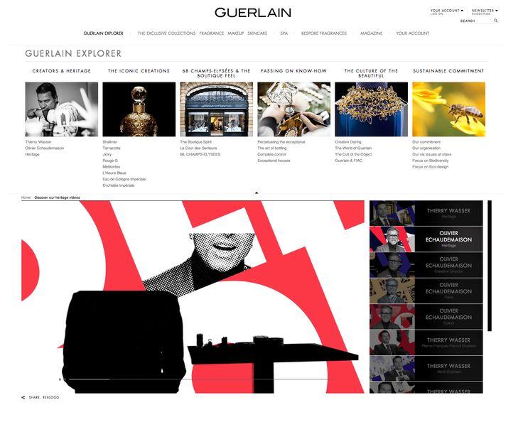 Guerlain Ecomm - Video page (Heritage Menu) - http://www.guerlain.com/int/en-int/heritage/videos.html#thierry-wasser-inspirational-dialogue-