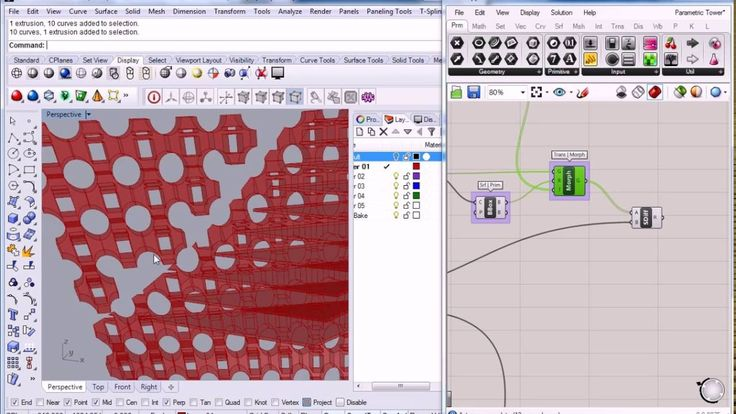 Grasshopper - Parametric Tower 6 - Facade Tiling - Box Morph 1
