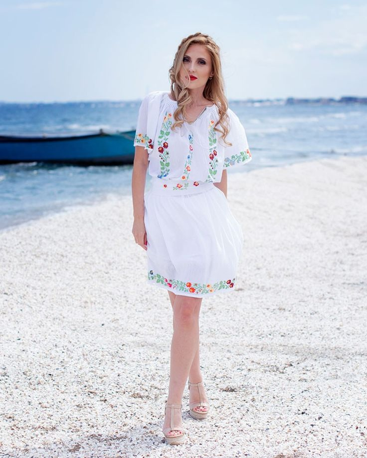 HANDMADE EMBROIDERED DRESS - Wild Flowers Motif