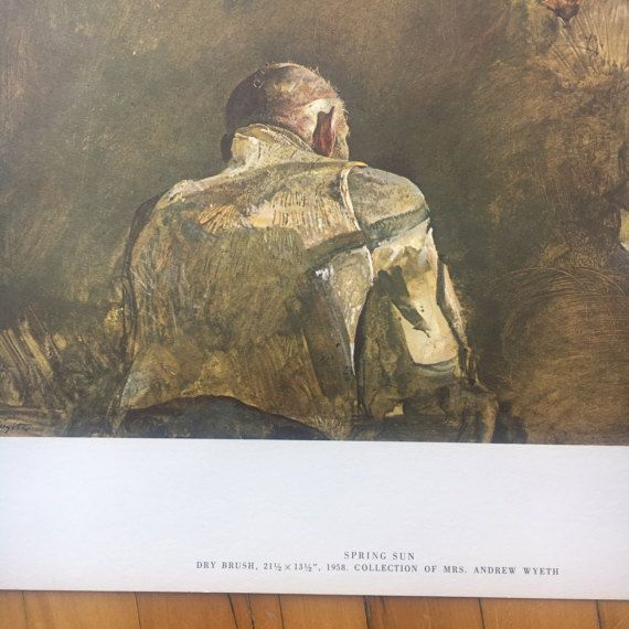 "Andrew Wyeth ""Spring Sun"" Lithograph from 1962 ""Four Seasons - 12 Reproductions"""