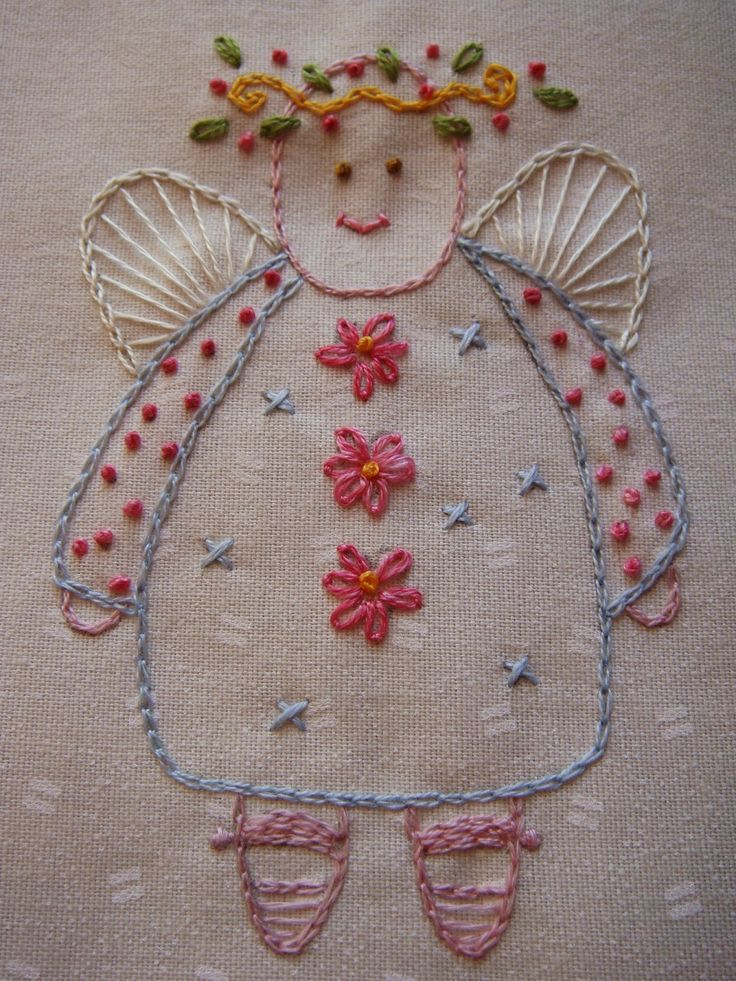 Garden Angel Embroidery