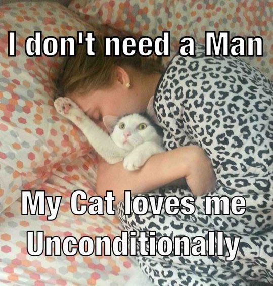 Hahaha I do this to Kitty! No wonder he never wants to sleep in my bed lol