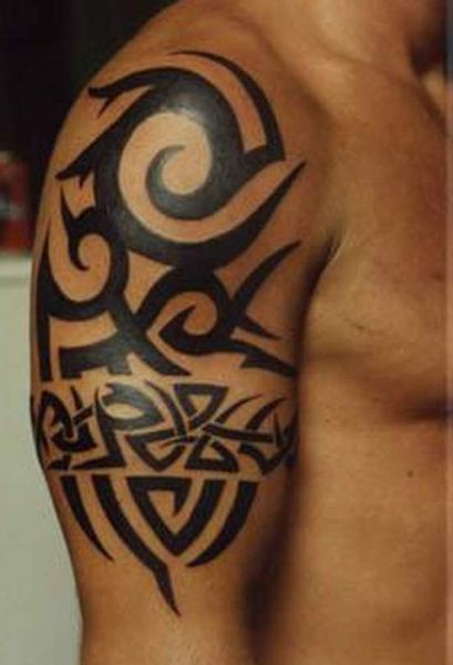 Tribal Band Tattoos For Men | tribal-tattoos-for-men-on-arm-8