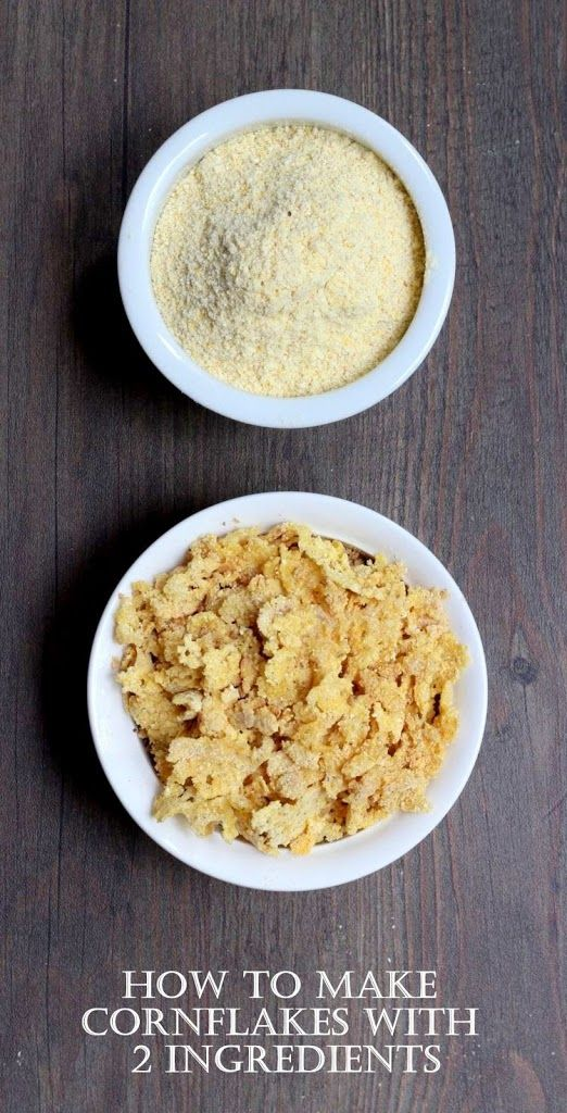 Homemade corn flakes take less than 5 minutes to make and they only require 2 ingredients!