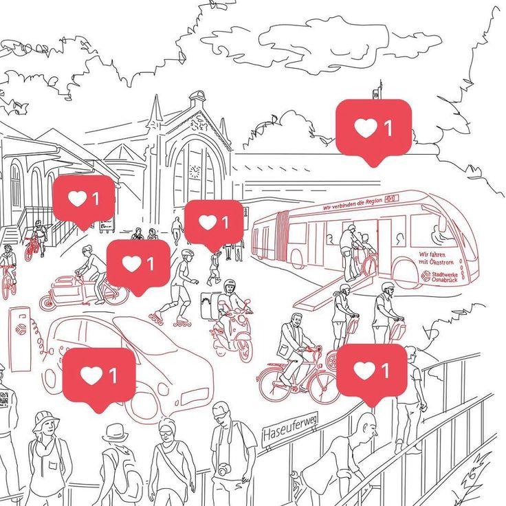 MOBILE ZUKUNFT. Was wollen die eigentlich? Hinter dem Ende 2016 initiierten Großprojekt MOBILE ZUKUNFT stehen Stadt und Stadtwerke Osnabrück. MOBILE ZUKUNFT entstammt dem dritten strategischen Ziel der Stadt: Osnabrück ist 2020 auf dem Weg zu einer nachhaltigen Mobilität die keine Bevölkerungsgruppen ausschließt und die regionale Verflechtungen im Blick hat sichtbar vorangekommen. Zu diesem Ziel gehören nachhaltige Mobilitätskonzepte (multimodal vernetzt einfacher Zugang betriebliches…