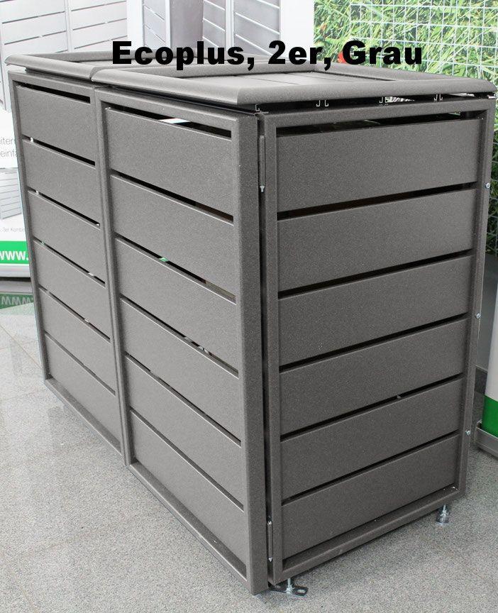 Mulltonnenbox Ecoplus Riba Mulltonnenboxen Cacher Les Poubelles Abris Poubelle Poubelle