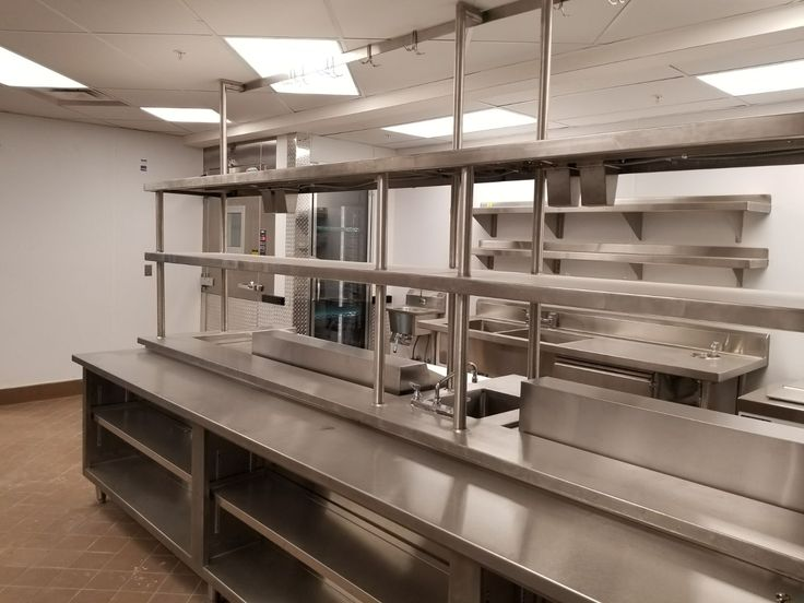 A peek in at a newly finished commercial kitchen  https://www.culinarydepotinc.com/restaurant-equipment  #CulinaryDepot #CommercialKitchen #RestaurantEquipment #Shelving #StainlessSteel #ChefSupplies #Cooking