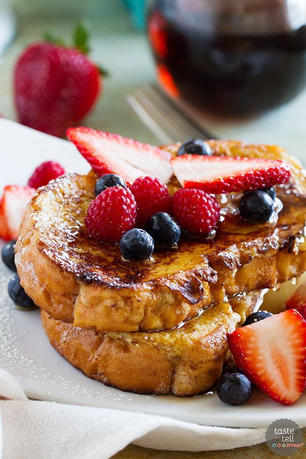 Ice Cream Soaked French Toast - Taste and Tell