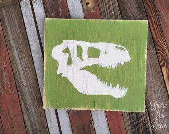 Dinosaur rustiek hout Decor ingesteld rustieke kwekerij