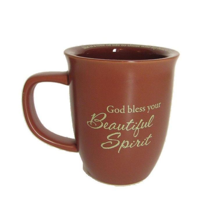 I have many different coffee mugs to choose from! Take a peek! Proverbs 3:18 God Bless Beautiful Spirit Ceramic Coffee Tea Cocoa Mug Cup Brown #AbbeyPress