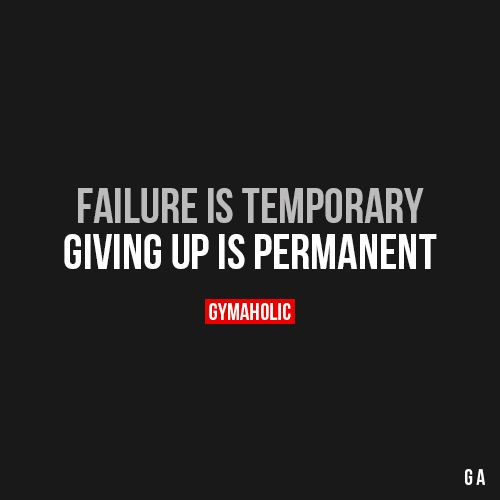 Failure Is Temporary