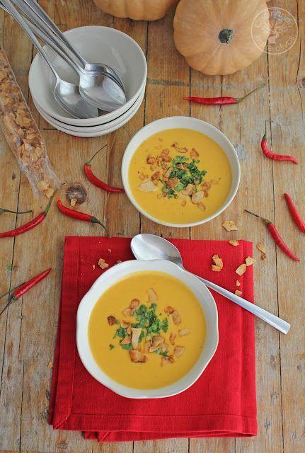Sopa tailandesa de calabaza y coco. Receta paso a paso. | Cocinando entre Olivos | Bloglovin' | https://lomejordelaweb.es/