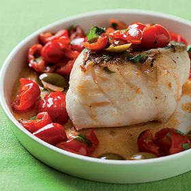 Pan-Roasted Fish With Tomatoes & Olives