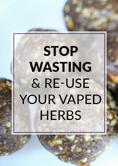 Waste Reduction Method in Vaping. Re-Use Your Dry Herbs NOW!