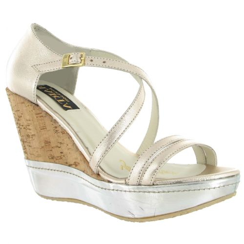 Comfortable Gold Leather Wedge, Was £120, Now £60 #SummerStyle #wedding